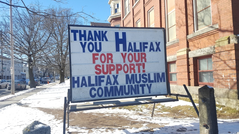 A show of solidarity at a Halifax mosque